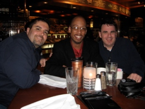 Right: Me, Center: Antoine from mobile ministry mag, Left: Greg from Accordance