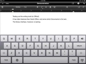 Office 2 HD editor