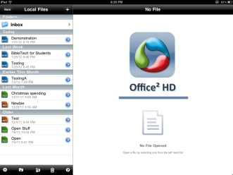 Office 2 HD file management