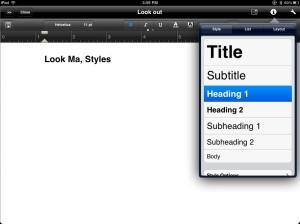 Styles Example