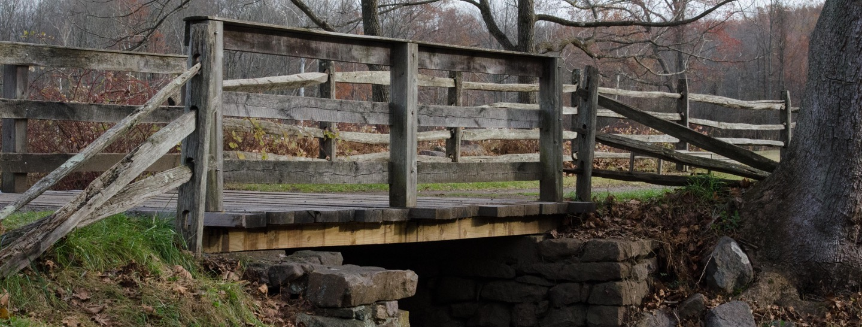 Hopewell Iron Furnace footbridge