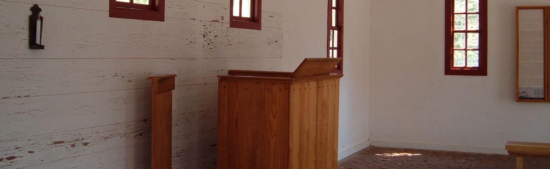 Presbyterian Pulpit in Colonial Williamsburg, VA