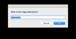 dialog asking for an image description