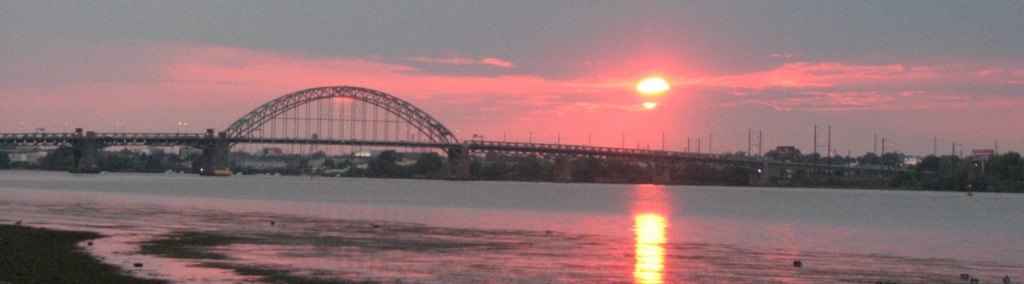 Sunset over the Delaware River