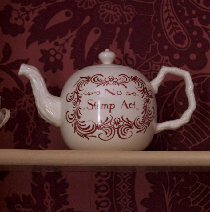 No Stamp Act tea kettle