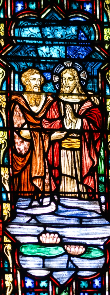 Jesus' Baptism in Stained Glass