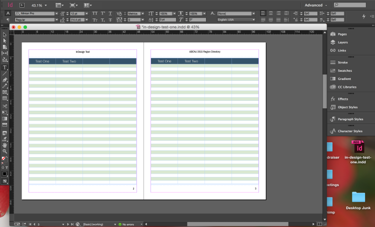 InDesign's UI is powerful, but won't win a beauty contest.