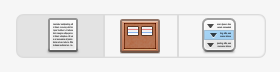 The view mode icons in the Scrivener Toolbar