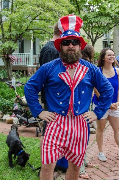 Hipster Sam at the 4th of July Parade