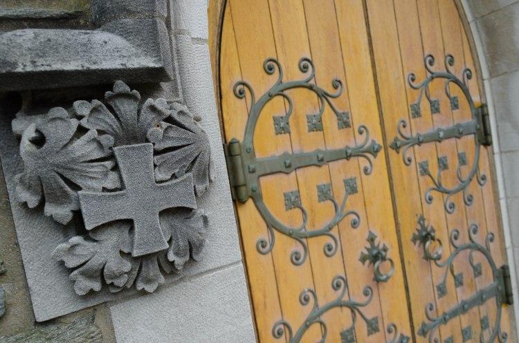 Ornate door to an Episcopal church