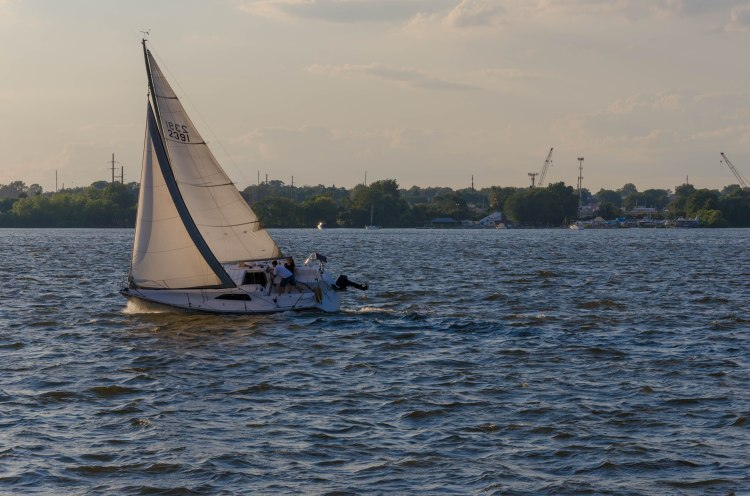 Sailboat on the Delaware