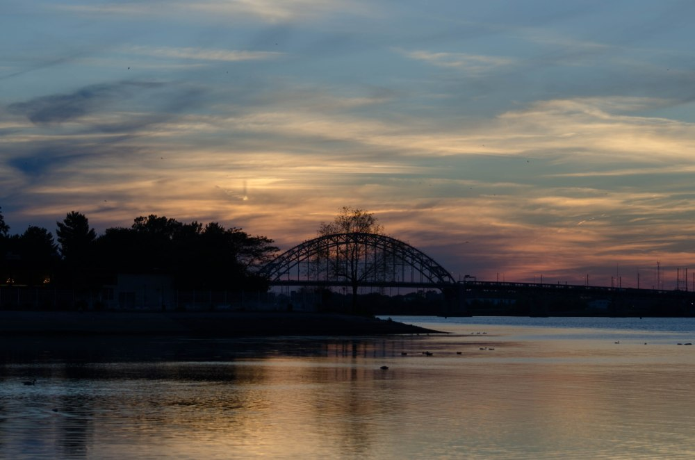 Delaware River during a Fall sunset
