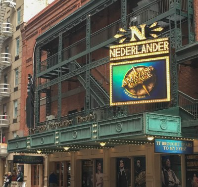 Amazing Grace Logo at the Nederlander Theatre