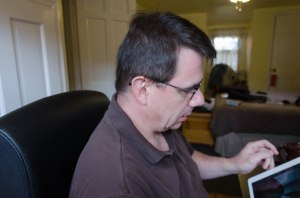 A picture of the blog author, via a tethered DSLR.