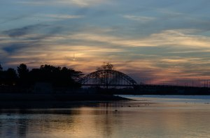 Fall Sunset at the Tacony-Palmyra Bridge