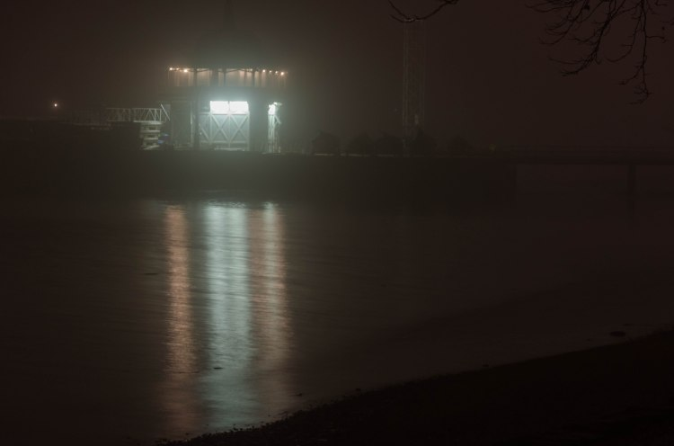 Fogged in Riverton Boathouse