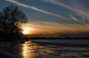Icy Sunset on the Delaware