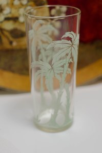 Palm Tree iced tea glass