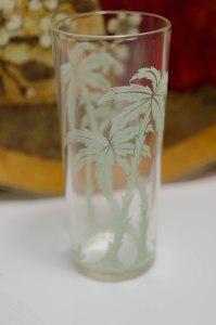 Palm Tree iced tea glass