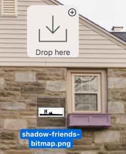 filepane drop area