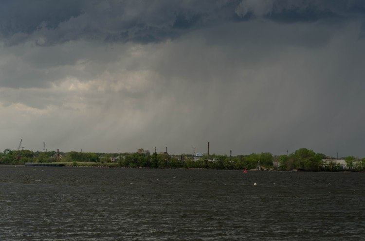 rain storm on the other side of the Delaware