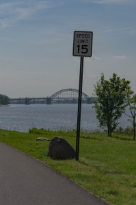 15 MPH speed limit along the Delaware
