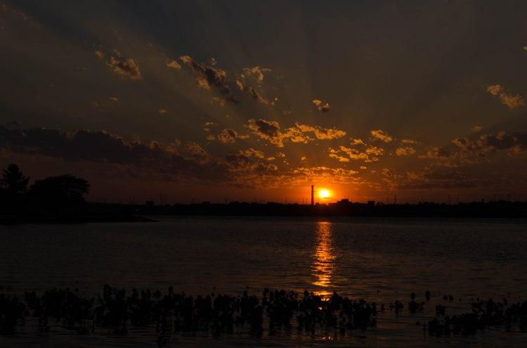 Sunset over the Delaware