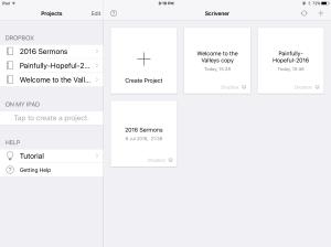 ios  Scrivener app