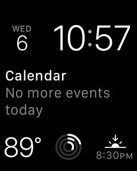 Modular watch face on the Apple Watch