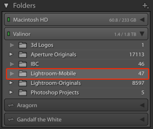 Lightroom-Mobile folder on my external drive