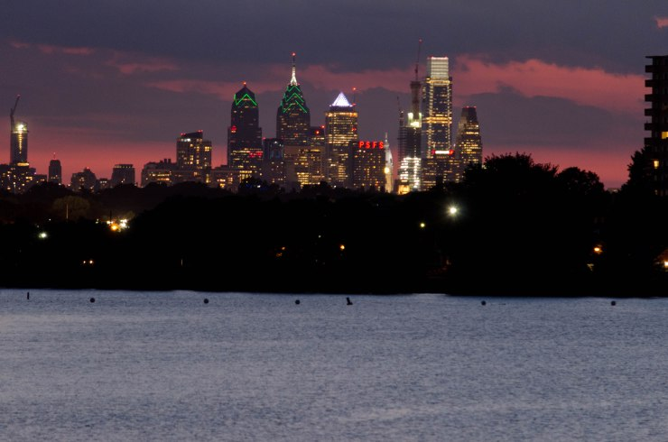 Philly Skyline, taken from the Cooper River Bridge