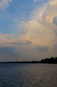 Rainbow over the Delaware River