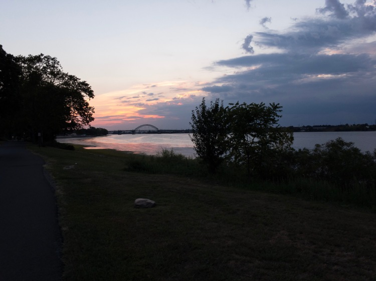 pre-edited Raw photo of a delaware river sunset
