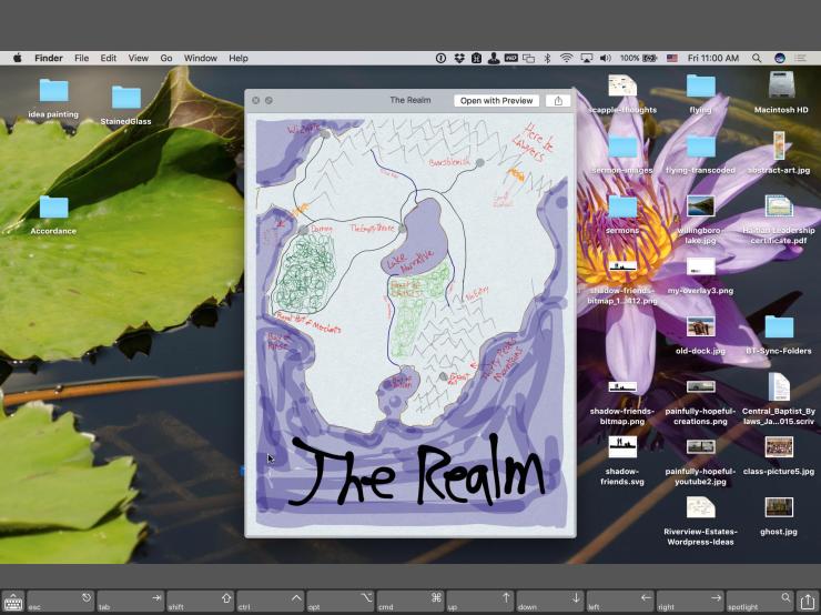 A remote Mac desktop, as viewed through Screens