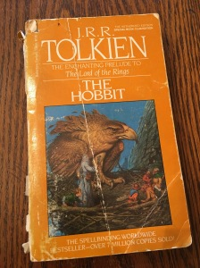 My battered paperback of The Hobbit