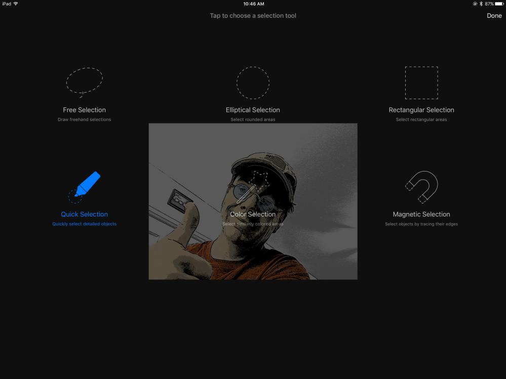 Pixelmator selection tool