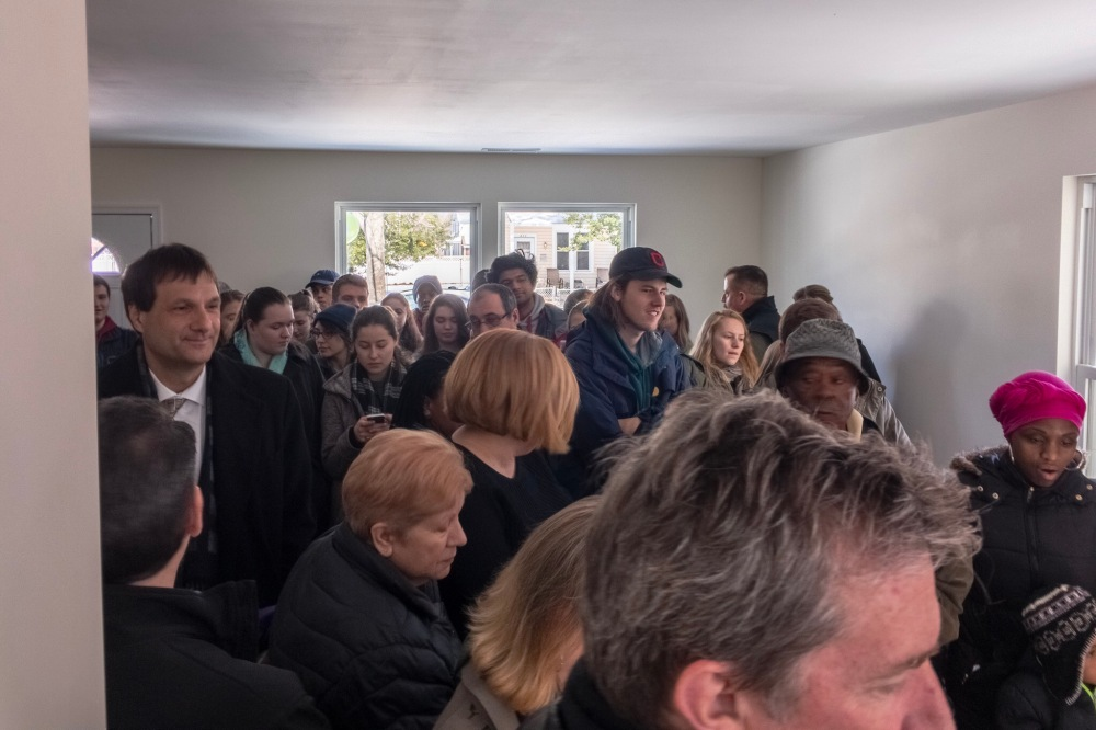 A packed Habitat house