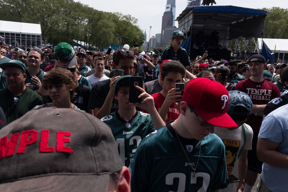 People await the Eagle's pick