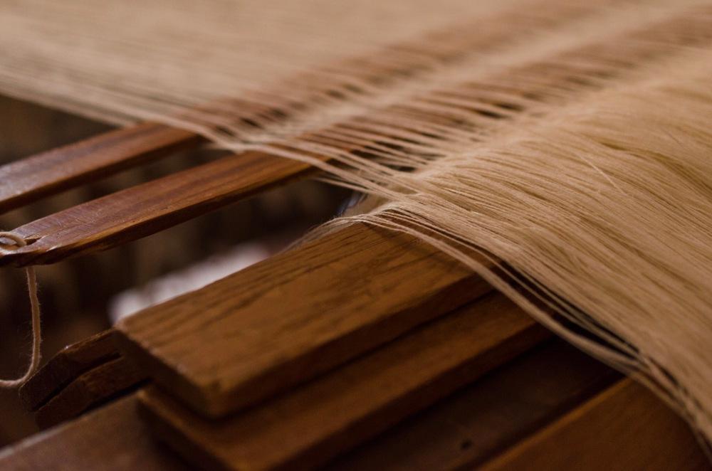 Threads on a weaver's loom