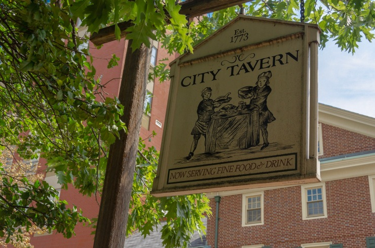 City Tavern Sign. Founded in 1773