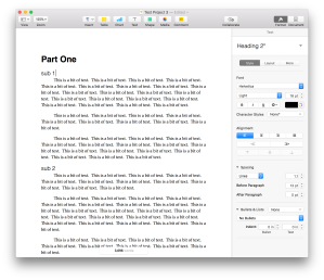 Compiled Document in Pages, styles have been preserved
