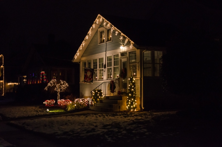 Clean and Simple Christmas Lights