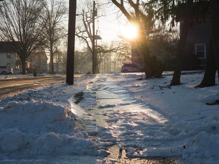 An icy walk