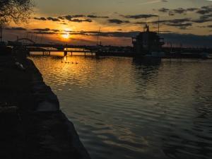 Riverton Boathouse at Sunset