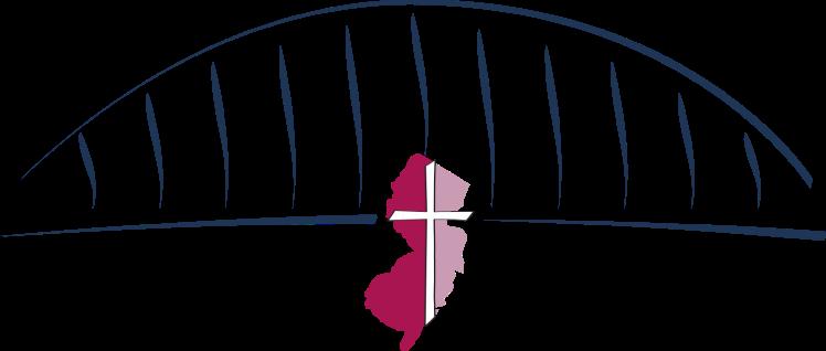 Stylized bridge with ABCNJ logo super-imposed