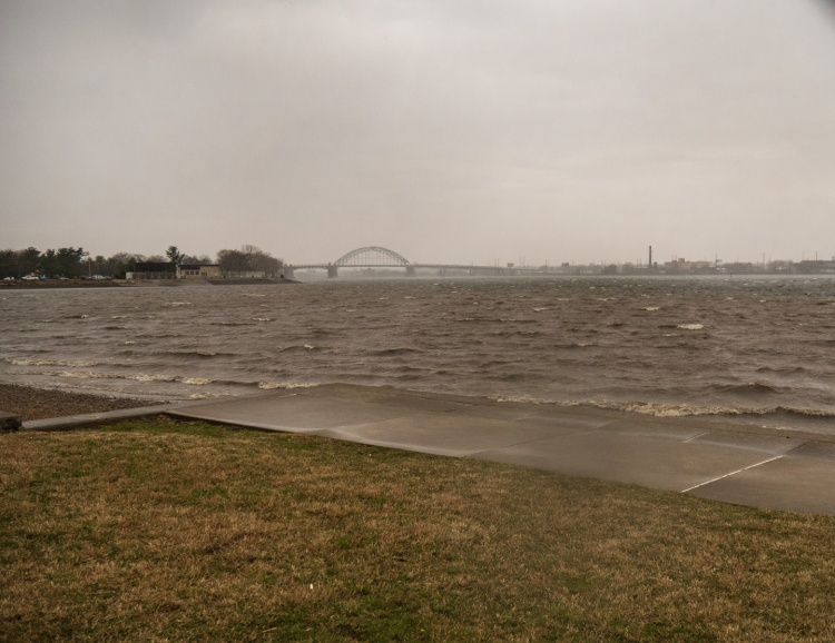 Delaware River during a storm