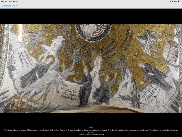 Mosaic of the the Temptations of Jesus