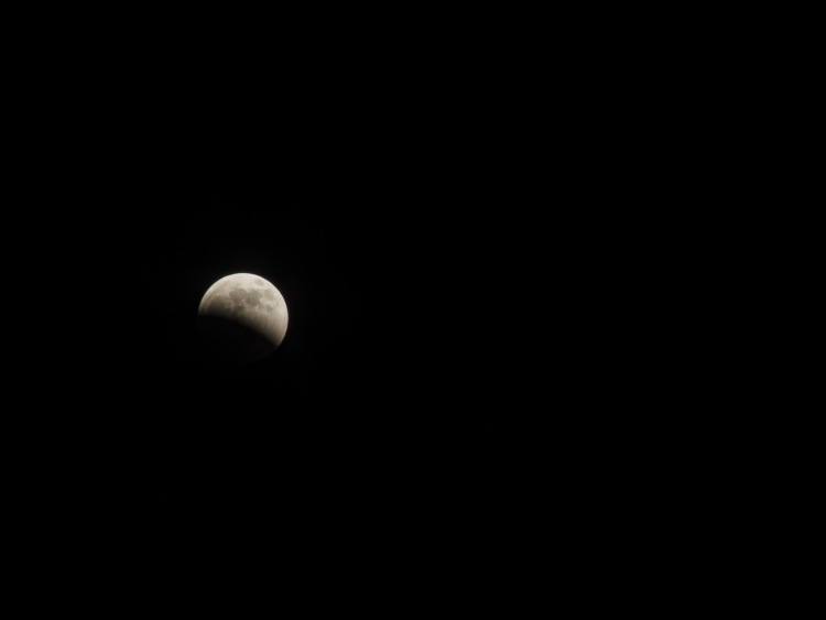 Moon, partially Eclipsed by the Earth's shadow.