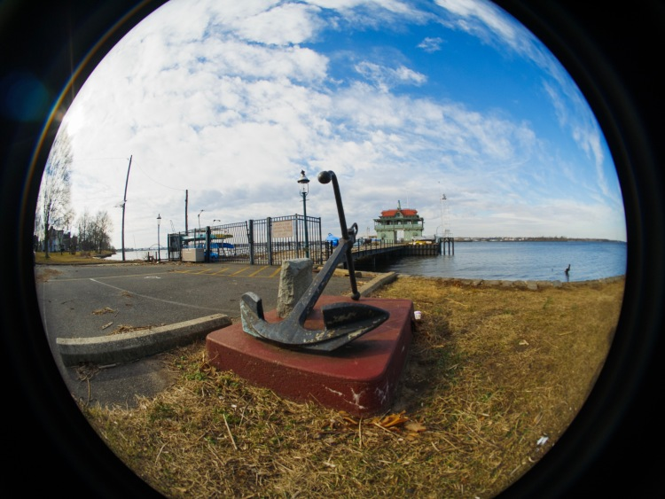 Riverton Yacht Club from the shorline.