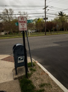"""A """"No Parking Here To Corner"""" - AT the corner, and on the wrong side of a two way street."""